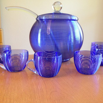 Czech Lemonade set - Art Glass
