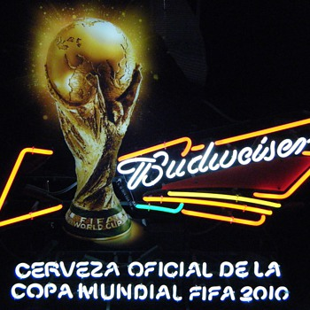 Budweiser 2010 World Cup Sign in Spanish - Signs