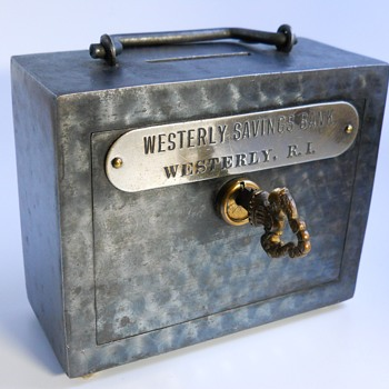 "Promotional Advertising Bank""Westerly Savings Bank,Westerly,Rhode Island""Circa 1900 - Coin Operated"