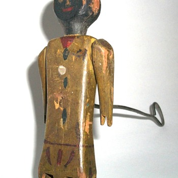Handmade Folk Art Articulated Dancing Man - Folk Art