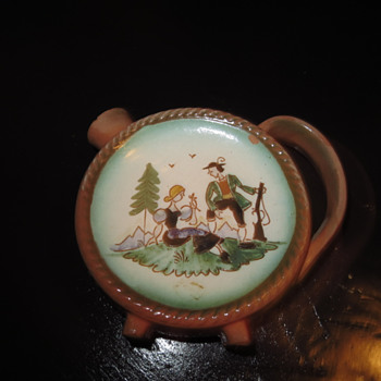 UNLISTED QUIMPER FAIENCE CORDIAL/CRUET