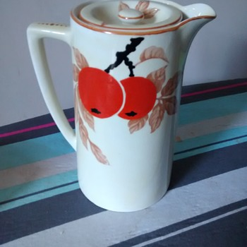 "'Bristol Pountney & Co Ltd, England, Amberone ""Delysia"" teapot / coffee pot orange textured  - China and Dinnerware"