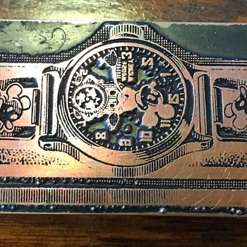 1930's Mickey Mouse wristwatch printing plate - Wristwatches