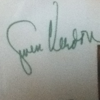 Gwen Verdon Autographed Notecard 