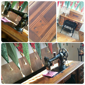 White Treadle Sewing machine  - Sewing