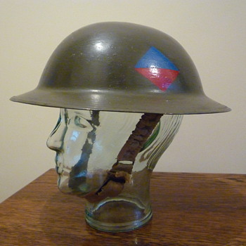 British WWI helmet re issued WWII - Military and Wartime