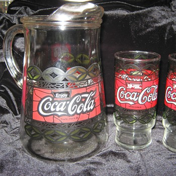 Coca-Cola Pitcher &amp; Glasses