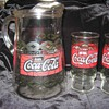 Coca-Cola Pitcher & Glasses