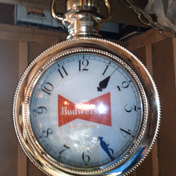 1959 Budweiser Rotating Pocket Watch - Breweriana