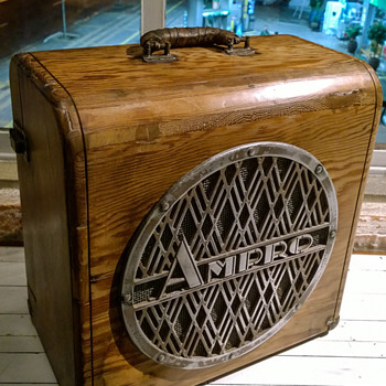 1940s Ampro Projector Speaker Cabinet - Electronics