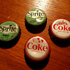 1950s-60s Coca-Cola and Sprite Bottle Cap Mountain