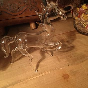 Hollow glass horse