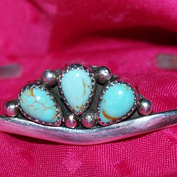 Sterling and Turquoise Bangle - Fine Jewelry