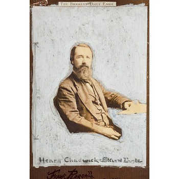 """The Father of Baseball"" – an 1870s Portrait of Henry Chadwick by Frank Pearsall"