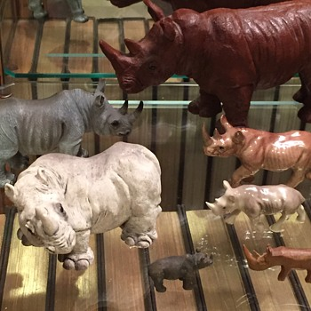 More Rhino Figurines