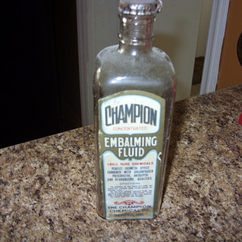 champion embalming fluid bottle - Bottles