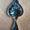 Vintage Reproduction of a Liberty & Co Enamel Pendant