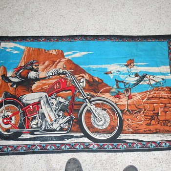 david mann  ghost rider tapestry  - Motorcycles
