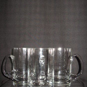 TIFFANY & CO. BEER MUGS (3) - Art Glass