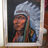 Original Paha Ska (White Hills) Lakota (Sioux) Velvet Painting Native American Art