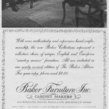 1968 - Baker Furniture Advertisement - Advertising