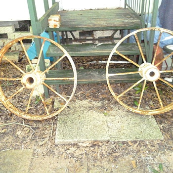 Steel wagon wheels