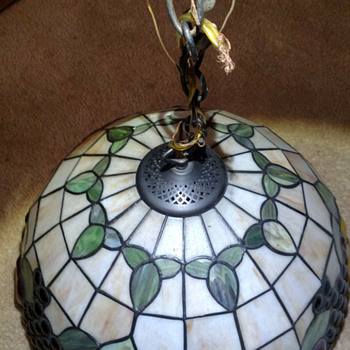 Stained Glass Hanging Fruit Lamp