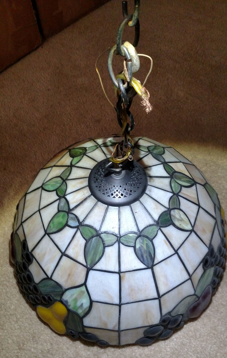 stained glass hanging fruit lamp collectors weekly. Black Bedroom Furniture Sets. Home Design Ideas