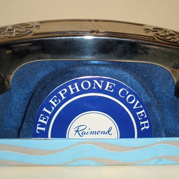 Unused Raimond Silverplate Telephone Receiver Cover (Like Hopalong Cassidy's!)