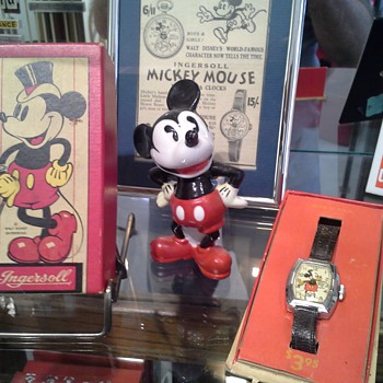 1937 Mickey Mouse deluxe and 1933 Chicago World's Fair Mickey #1 - Wristwatches