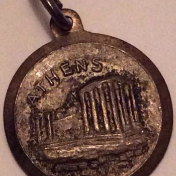 Old silver medallion
