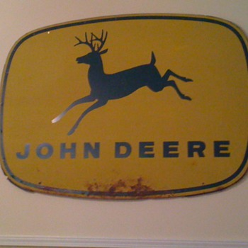 Vintage John Deere Tractor Sign - Signs