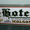 porcelaine sign molson  hotel  very scarce circa 1920