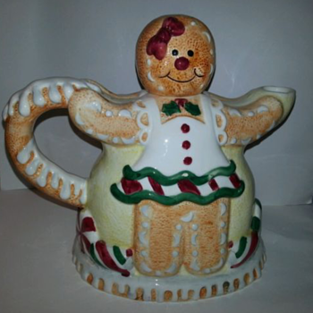 Vintage Gingerbread People Teapot