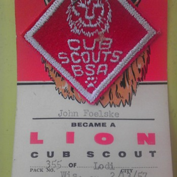 Dads cub scout badge 1957