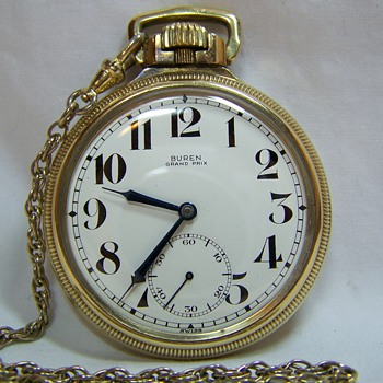 Buren Grand Prix pocket watch with chain