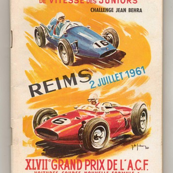 1961 Grand Prix de L'A.C.F. Race Program