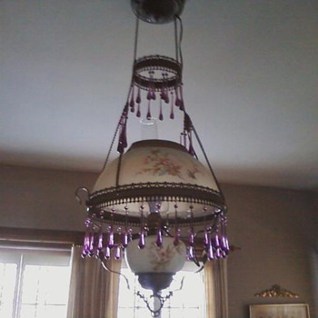 Converted Gas Chandelier