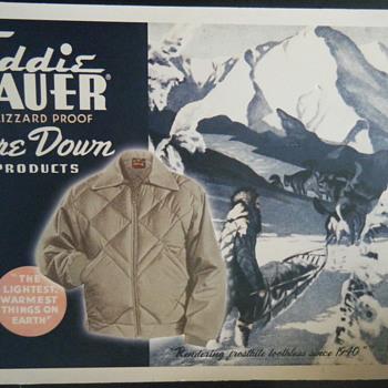 Vintage Eddie Bauer ad.  - Advertising