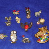 Vintage Animal Brooch and Pin Lot.