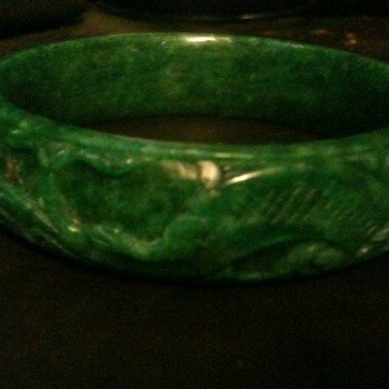 solid jade vintage oriental bracelet - Fine Jewelry