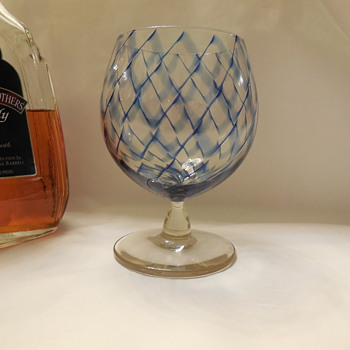 Randy Strong? Glass Goblet/Brandy Snifter - Art Glass