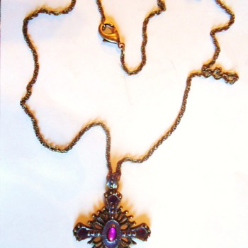 Cross from thrift store for a few dollars, brass now in my Church! Last photo! - Fine Jewelry