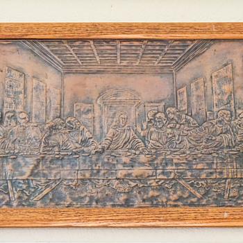 Pressed Metal Last Supper Picture - Visual Art