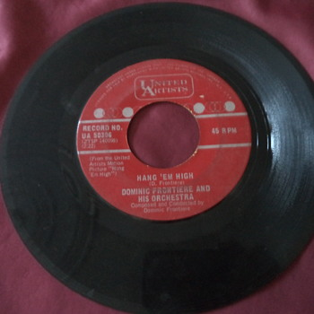 1968/1969 United Artists Records 45RPM