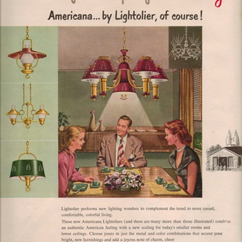 1950 Lightolier Advertisements - Advertising
