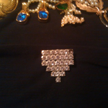 antique crystal brooch