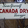 "Canada Dry 50"" Tall Steel Wire Three Level Shelf Rack"