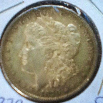 Raw 1879 Morgan Silver Dollar - US Coins