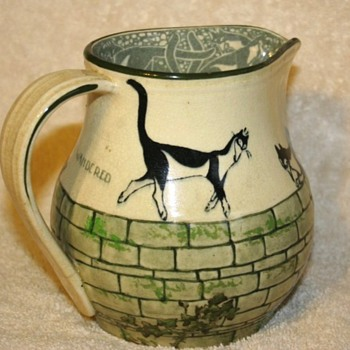 Royal Doulton Souter Cat Pitcher - Art Pottery